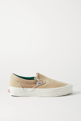 Vans Og Classic Lx Suede And Canvas Slip-on Sneakers - Beige