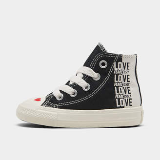 Converse Girls' Toddler Chuck Taylor All Star Love High Top Casual Shoes