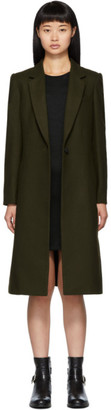 Rag & Bone Khaki Wool Diane Peacoat