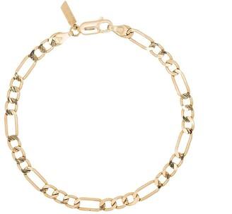 Loren Stewart 14kt yellow gold Figaro chain bracelet