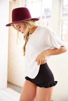 Urban Outfitters Pins And Needles Knit Ruffle-Hem Short