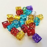 Magic Mixed Multi Colors Dread Lock Dreadlocks Beads Metal Cuffs Hair Decoration Filigree Tube [24pcs]