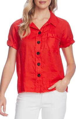 Vince Camuto Button Up Linen Shirt