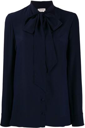 Alexander McQueen crepe de chine necktie blouse