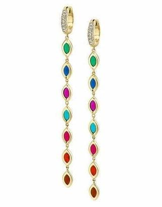 Andy Lif 7 Color Enamel Diamond Drop Earrings