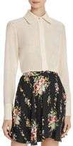 Alice + Olivia Alfie Silk Shirt