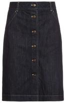 Tomas Maier Button-through denim skirt