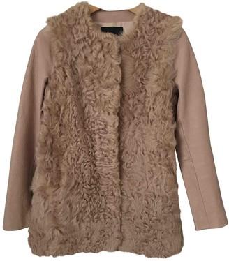 Maje Pink Leather Coats