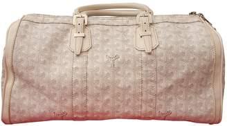 Goyard Croisiere Ecru Cloth Handbags