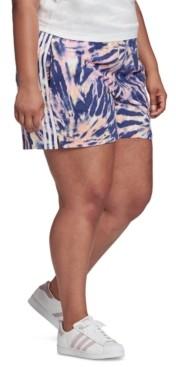 adidas Plus-Size Tie-Dyed Shorts