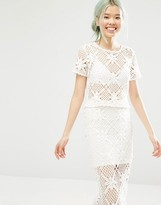Monki Crochet T-shirt