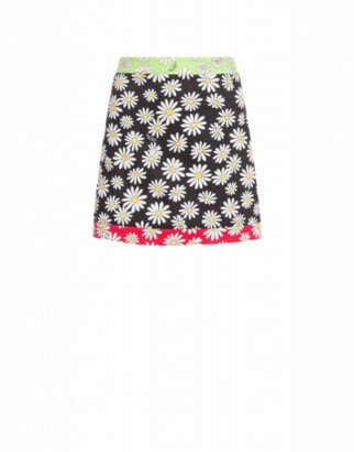 Boutique Moschino Pique Mini Skirt Daisy Patchwork Woman Multicoloured Size 38 It - (4 Us)