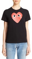 Comme des Garcons Women's 'Play' Heart Print T-Shirt