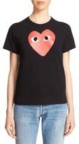 Comme des Garcons Women's 'Play' Heart Print T-Shirt