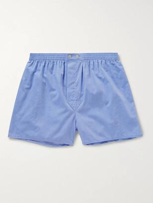Derek Rose Amalfi Cotton Boxer Shorts - Men - Blue