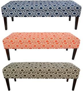 Mjl Furniture Designs MJL Furniture Kaya Nicole 10-button Tufted Upholstered Long Bench