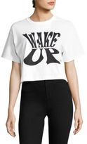Opening Ceremony Wake Up Cropped Cotton Tee