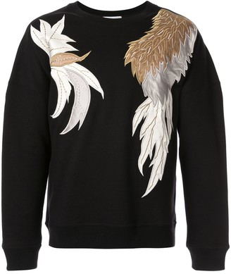 Ports V Applique Crew-Neck Sweatshirt