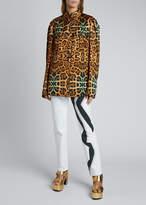 Dries Van Noten Leopard-Print Brocade Jacket