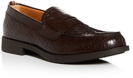 Burberry Men's Emile Embossed-Leather Penny Loafers