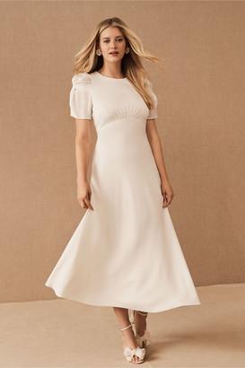 BHLDN Leyden Satin Midi Dress