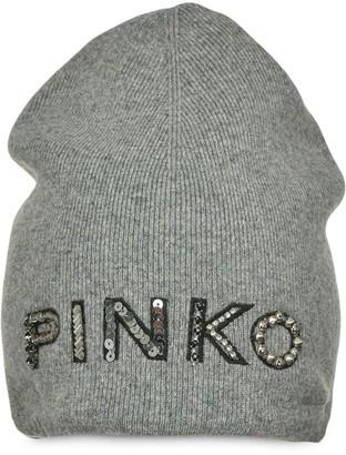 Pinko Logo-Embellishment Beanie