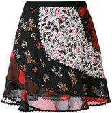 Coach patchwork floral skirt
