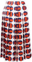 Gucci polka-dot pleated skirt - women - Silk/Cotton/Viscose - 40