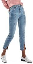 Topshop Women's Split Hem Straight Leg Jeans