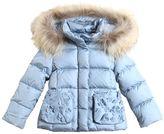 Il Gufo Hooded Nylon Down Coat W/ Fur