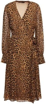 Jay Godfrey Leopard-print Crepe De Chine Wrap Dress