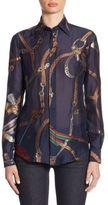 Ralph Lauren Silk Button-Up Shirt