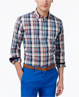 Club Room Men's Cotton Plaid Shirt, Only at Macy's