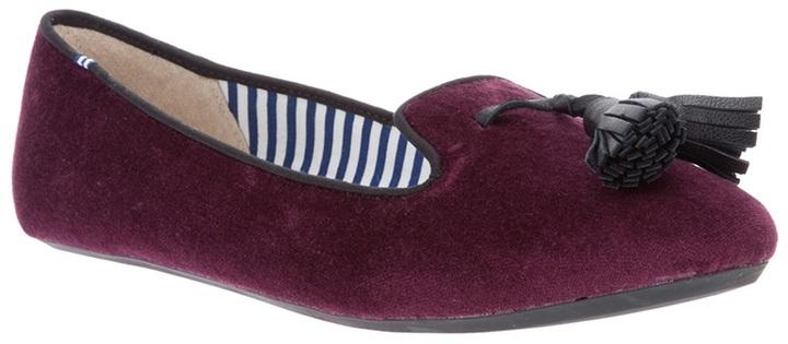 Charles Philip tassel velvet slipper