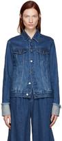 Edit Blue Denim Turn Up Sleeve Jacket