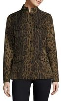Jane Post Leopard-Print Safari Jacke