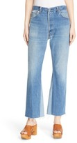RE/DONE Women's The Leandra Reconstructed High Waist Crop Flare Jeans