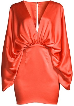 Fame & Partners Karina Ruched Satin Dress