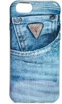 GUESS Denim-Print iPhone 7 Case
