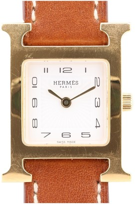 Hermã ̈S HermAs Heure H Gold Gold plated Watches