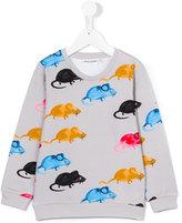 Mini Rodini Mr Mouse sweatshirt - kids - Organic Cotton/Spandex/Elastane - 3 yrs