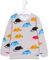 Mini Rodini Mr Mouse sweatshirt - kids - Organic Cotton/Spandex/Elastane - 9 yrs