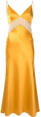Dalood fringe-detail v-neck dress