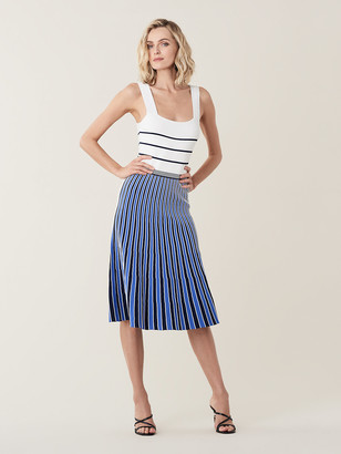 Diane von Furstenberg Yasmin Pleated Knit Midi Dress