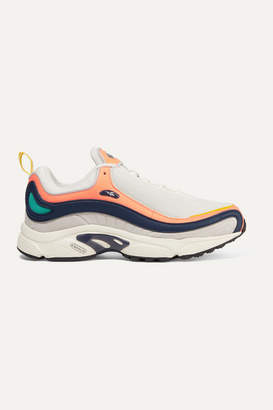 Reebok Daytona Dmx Leather And Mesh Sneakers - Coral