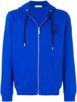 Versace logo detail zip hoodie