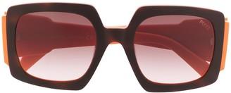 Emilio Pucci Square Frame Colour Block Sunglasses