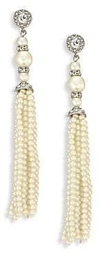 Kenneth Jay Lane Women's Crystal & Faux-Pearl Tassel Earrings