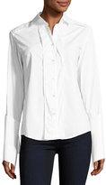 palmer//harding Reba Button-Front Extended-Cuff Poplin Shirt