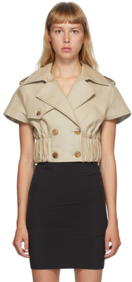Alexander Wang Beige Cropped Trench Jacket